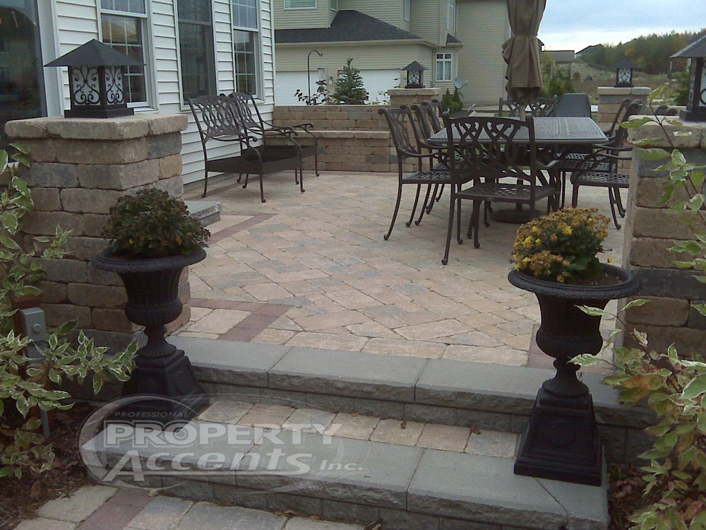 Elevated Patio With Stone Walls. Photo 1